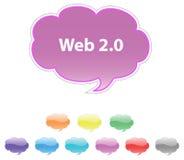 Web 2.0 dialog. Vector. Stock Image