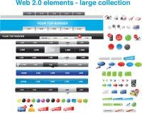 Web 2.0 elementi - ampia raccolta Fotografie Stock