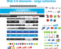 Web 2.0 elements - large collection stock illustration