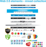 Web 2.0 elements - mixed collection. Web 2.0 graphics - mixed collection Royalty Free Stock Photo
