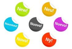 Web 2.0 emblemas e etiquetas Fotos de Stock Royalty Free