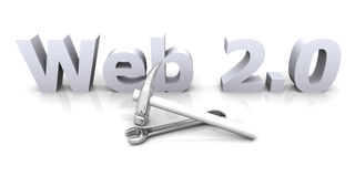 Web 2.0 - En construction Photographie stock