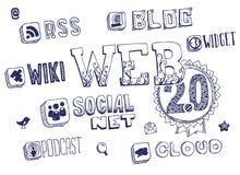 Web 2.0 Gekritzel Lizenzfreie Stockfotos