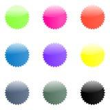 Web 2.0 glanzende stickers Royalty-vrije Stock Afbeeldingen