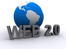 Web 2.0 and globe Stock Image