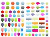 Web 2.0 globos de los blindajes de los sellos Imagenes de archivo