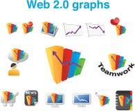 Web 2.0 gráficos Imagens de Stock Royalty Free