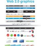 Web 2.0 Grafiken Lizenzfreies Stockbild