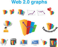 Web 2.0 graphs. A set of web 2.0 graphs Royalty Free Stock Images