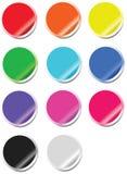 Web 2.0 heldere stickers Stock Fotografie