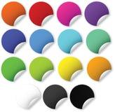 Web 2.0 heldere stickers stock illustratie