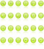 Web 2.0 iconos del aqua Imágenes de archivo libres de regalías
