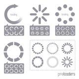 Web 2.0 iconos del cargador del progreso del vector Foto de archivo libre de regalías