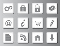 Web 2.0 icons Royalty Free Stock Photography