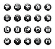 Web 2.0 Icons // Black Label Series Royalty Free Stock Image