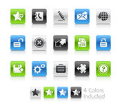 Web 2.0 Icons // Clean Series Royalty Free Stock Photos