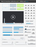 Web 2.0 interface part1. White and blue Royalty Free Stock Photo
