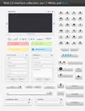 Web 2.0 interface part2. Web 2.0 interface part 2. White and blue Royalty Free Stock Images