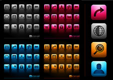 Web 2.0 Internet Icon Pack Stock Photography
