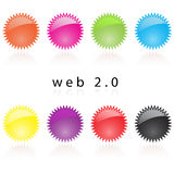 Web 2.0 internet labels reflec Royalty Free Stock Photography