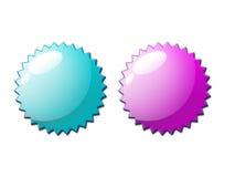 Web 2.0 pares del sello del certificado Imagen de archivo