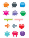 Web 2.0 pictogrammen vector illustratie