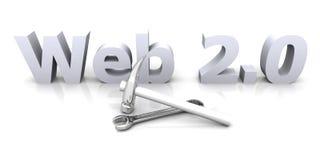Web 2.0 - Sob a construção Fotografia de Stock