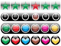 Web 2.0 style menu button series Stock Photos