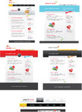 Web 2.0 template pack. A collection of several web 2.0 templates Royalty Free Stock Photography