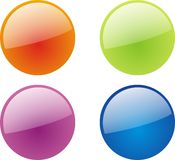 Web 2.0 transport buttons. Web 2.0 style transport buttons in four colors vector Stock Photography