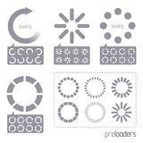 Web 2.0 Vector Progress Loader Icons. A collection of vector internet progress loader icons