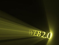 Web 2.0 version sign light flare Stock Images