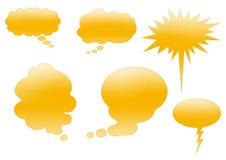 Web 2 cadres de bulle Photos libres de droits