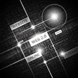 WEB 2,0 ilustração stock