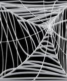 Web 3d aislado en negro Foto de archivo