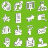 Web 3d ed insieme di calcolo dell'icona Fotografia Stock Libera da Diritti