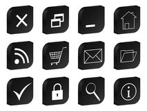 Web 3d icon black Stock Image