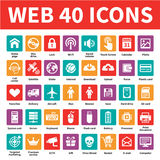 Web 40 Vector Icons Stock Images