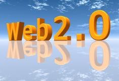 Web 2 0 Fotografie Stock