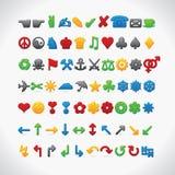 Web 70 ícones Imagens de Stock