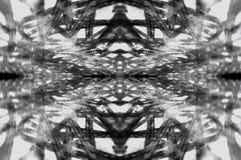 Web abstracta del ornamento del contraste fotografía de archivo