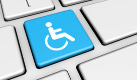Web Accessibility Icon On Keyboard Stock Images