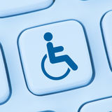 Web accessibility online internet website computer people disabi Royalty Free Stock Image