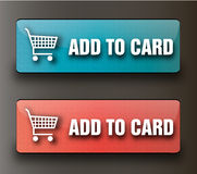 Web add to card buttons royalty free illustration