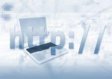 Web Address. An illustration of http (Hypertext Transfer Protocol) of an internet website address
