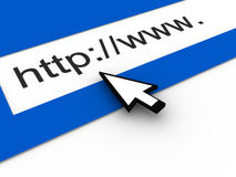Web Address Browser Royalty Free Stock Photos