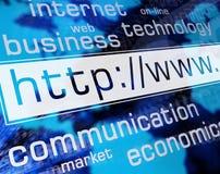 Web-Adresse Stockfoto