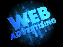 Web Advertising on Dark Digital Background. Royalty Free Stock Photography