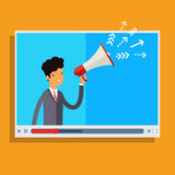 Web advertising and spam concept. Royalty Free Stock Images