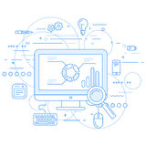 Web analytics and data flow abstraction Stock Photos
